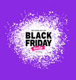 black friday sale banner purple color background vector image vector image