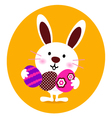 Bunny holding easter eggs vector | Price: 1 Credit (USD $1)