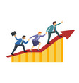 business people climb together to achieve glory vector image vector image
