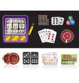 casino and gambling tools icons vector image