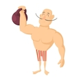 Circus strong man icon cartoon style vector image