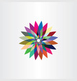 colorful leaves icon flower logo symbol sign vector image vector image