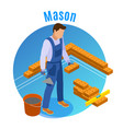 craftsman isometric background vector image vector image