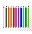 design set realistic colored pencils on vector image