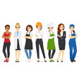 different woman professions set vector image vector image
