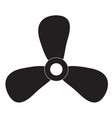 fan icon on white background fan sign vector image vector image