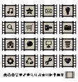 film cell icons vector image vector image
