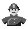 Fireman icon gray monochrome style vector image vector image