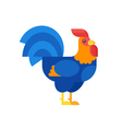 flat style rooster vector image vector image