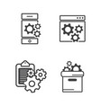 folder setting vector image vector image