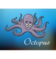 Funny cartoon baby octopus vector image vector image
