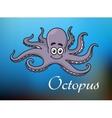 funny cartoon baoctopus vector image