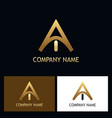 golden letter a logo vector image vector image