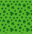 green clover seamless pattern shamrock vector image