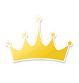 hand drawn crown logo and icon in cartoon style vector image