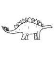 hand drawn doodle stegosaurus vector image