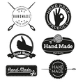 Hand Made logo design insignias vector image