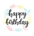 Happy Birthday greeting card design template vector image vector image