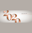 happy new year gold copper 2020 number banner vector image