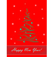 happy new year green elegant christmas tree on vector image vector image