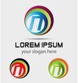 Letter N logo icon design template elements vector image vector image