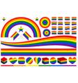 lgbt rainbow symbols set vector image vector image