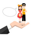 man and woman in hand happy young couple in love vector image vector image