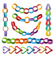 paper decoration chains colored christmas party vector image