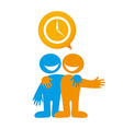 people dialog icon vector image vector image