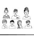 people face cartoon icon design vector image vector image