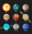 planets solar system vector image vector image