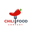 red chilli food logo design your company vector image
