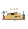 scandinavian living room interior concept vector image