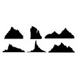 set black and mountain vector image vector image
