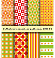 Set Fabric With Abstract Pattern vector image vector image