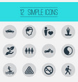 set of simple fashion icons vector image vector image