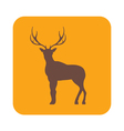 Silhouette of the deer Flat deer icon vector image vector image