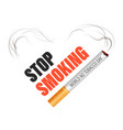 stop smoking world no tobacco day isolated icon vector image vector image