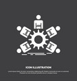 team group leadership business teamwork icon vector image