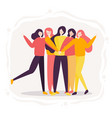 teamwork of woman successful high five together vector image vector image