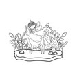 unicorn and fairy in landscape vector image vector image