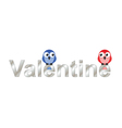 Valentine lovers vector image