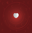 valentine red love card vector image vector image