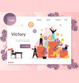 victory website landing page design vector image