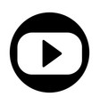 video player icon isolated on white vector image vector image