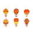 vintage hot air balloons set retro air transport