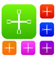wheel wrench cross set collection vector image vector image