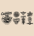 wild hog bikers vintage emblems vector image vector image