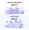 flat design concept banner -online treatment and vector image