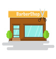 Boutique of flat style building vector image